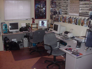 Chris and Jay's desks