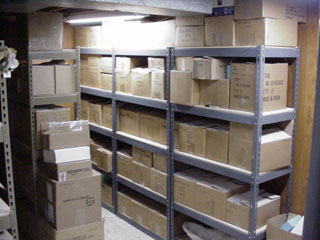 molds in storage