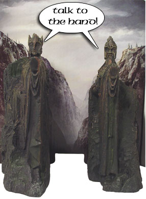 Lord of the rings the fellowship of the ring collector 39 s dvd gift set with argonath bookends - Argonath bookends ...