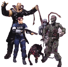 Resident Evil action figures group picture