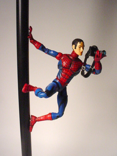 Spider-Man/ Peter Parker with magnetic hand/feet ...
