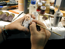 Gandalf being painted