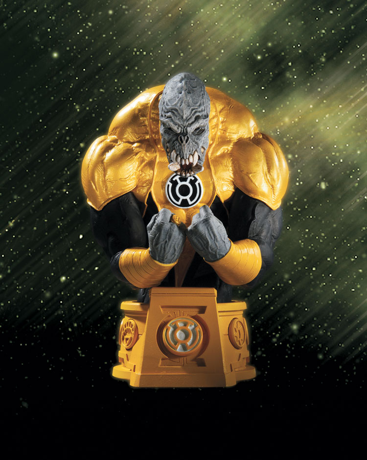 HEROES OF THE DC UNIVERSE: BLACKEST NIGHT: SINESTRO CORPS MEMBER ARKILLO BUST