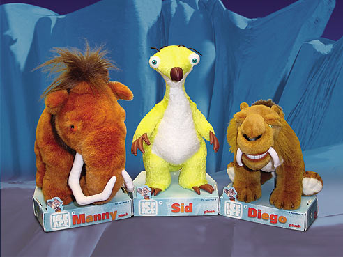 Ice Age plush toys