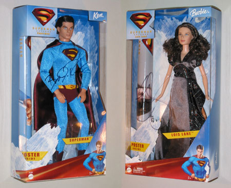 superman returns barbie and ken dolls