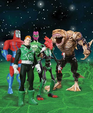 green lantern action figures, series 2