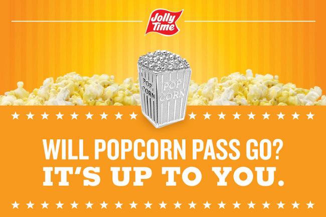 popcorn monopoly piece