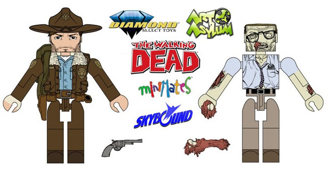 The Walking Dead Comic Book Minimates