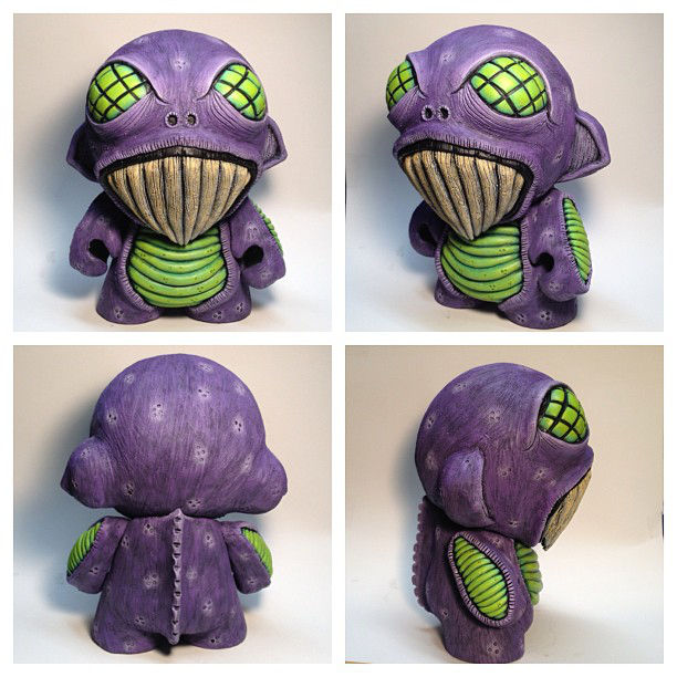Custom 7 Munny by Dave Webb - outsmART originals giveaway