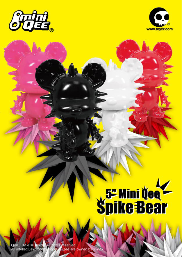 Toy2R's New 5 Inch Mini Qee Spike Bear and Melting Bear Collection