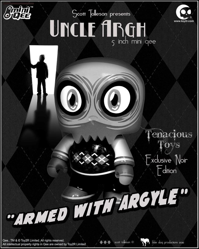 Noir Edition Uncle Argh 5 Inch Mini Qee