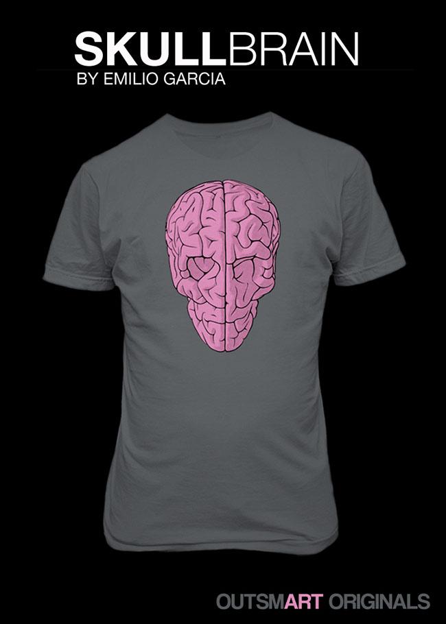 Skull Brain T-Shirt Release