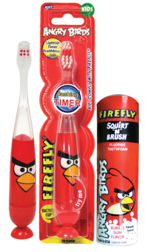 FireFly Angry Birds Squirt 'N Brush Tooth Foam
