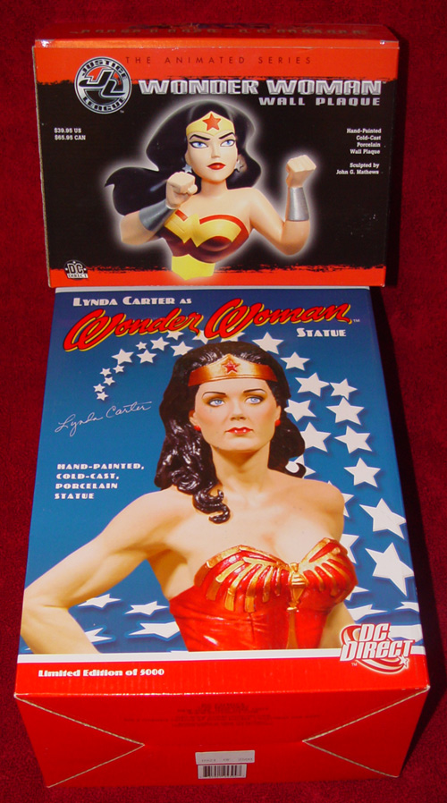wonder woman statues and busts