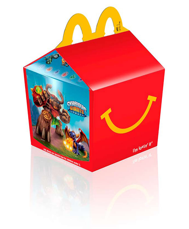 Skylanders Giants in McDonald's Happy Meals