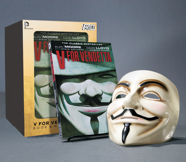V FOR VENDETTA BOOK & MASK SET