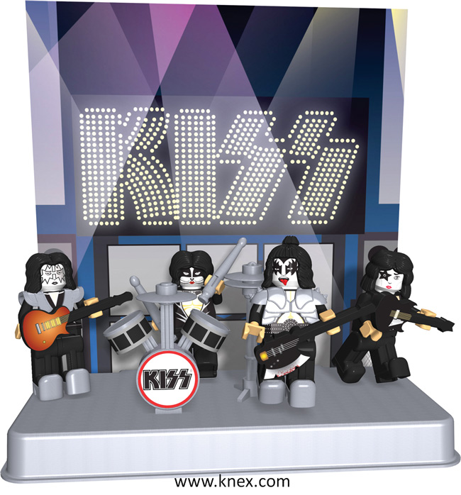 K&#039;NEX BRANDS TO LAUNCH NEW LINE OF KISS BUILDING FIGURES