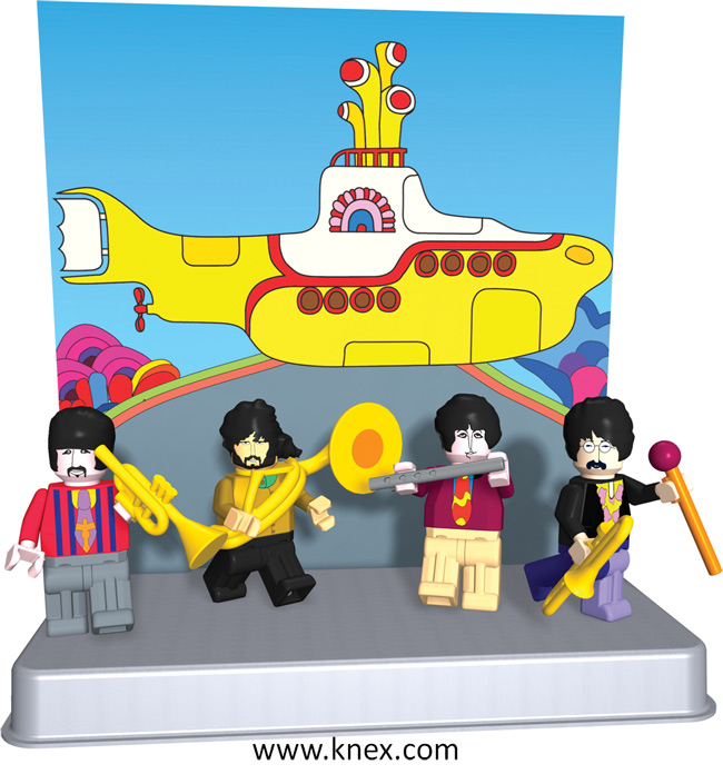 Beatles Yellow Submarine Building Figures