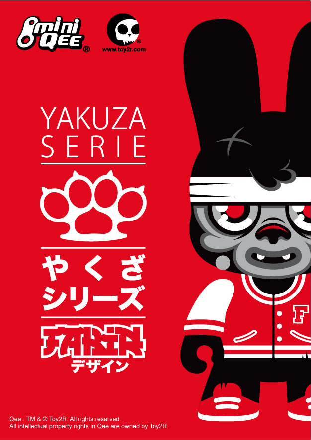 Yakuza Series of Mini Qee Bunees by Fakir