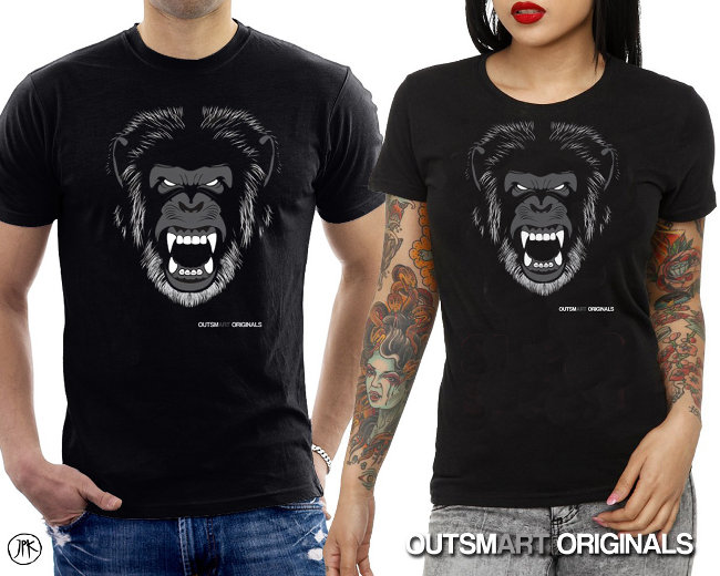 Gorilla Mascot T-shirt from outsmART originals