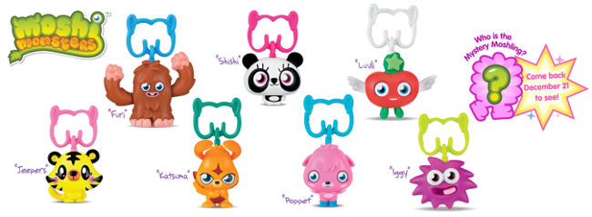Moshi Monsters in McDonald's Happy Meals