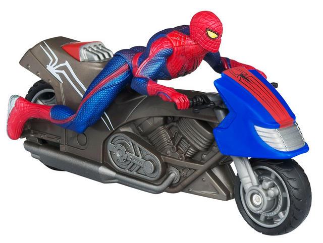 Marvel spider man zoom 39 n go spider motorcycle 39610 raving toy maniac - Spider man moto ...