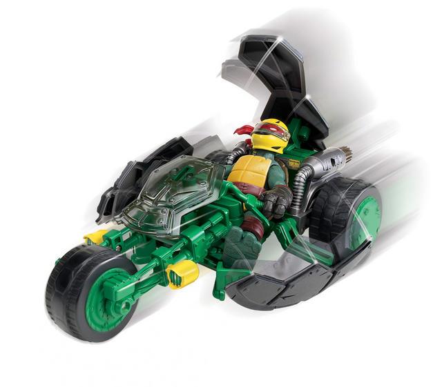 Vehicle with Figure 94001 Ninja Stealth Bike motion