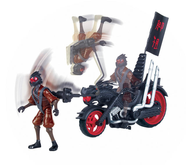 Vehicle with Figure 94003 Dragon Chopper
