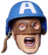 captain america mini bust