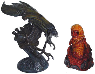 Alien Statue and bust