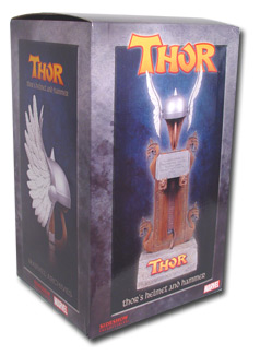 thor's hammer and winged helmet set