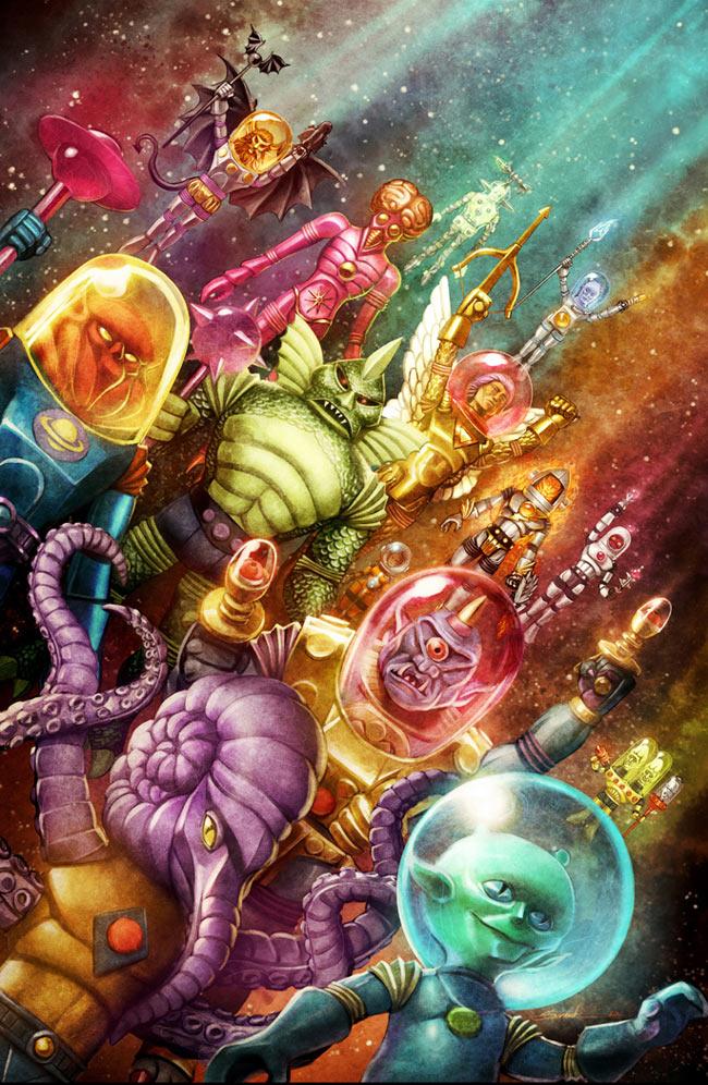 Futuretro Exclusive Outer Space Men