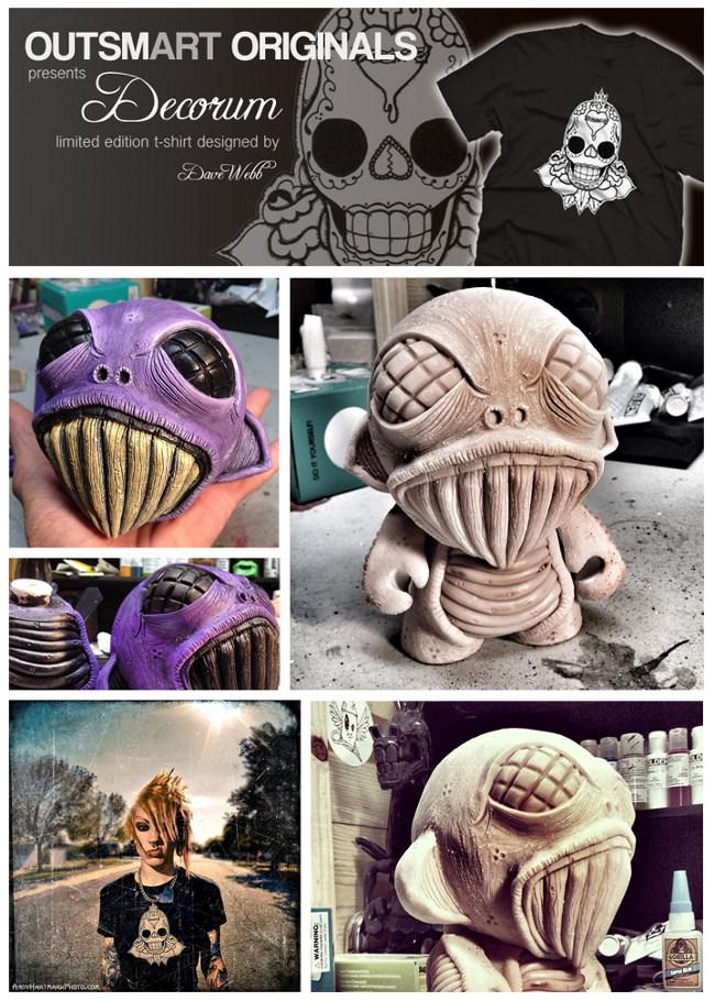 Custom 7 Munny by Dave Webb - outsmART originals giveaway
