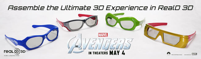 Marvel's THE AVENGERS Collector's Edition RealD 3D Glasses