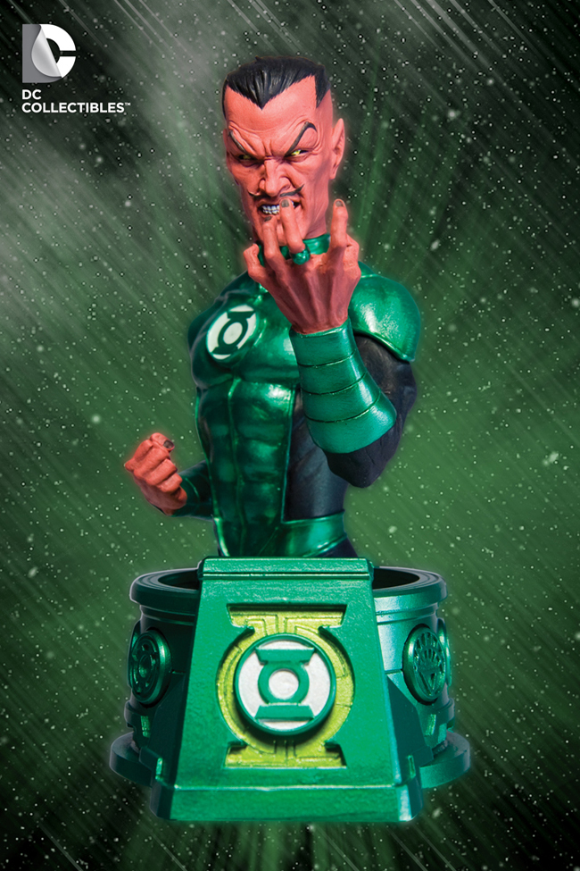 Blackest Night Green Lantern and Sinestro Bust