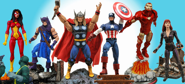 avengers marvel select action figures