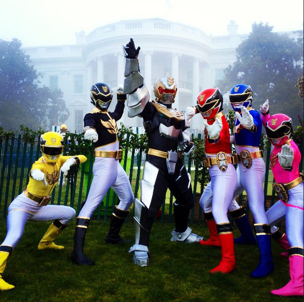 Saban's Power Rangers Megaforce Participate in 2013 White House Easter Egg Roll