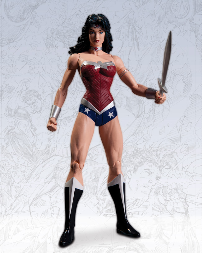 CYBORG AND WONDER WOMAN ACTION FIGURES