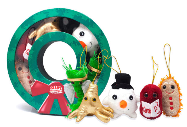 GIANTmicrobes Holiday Plush Collection